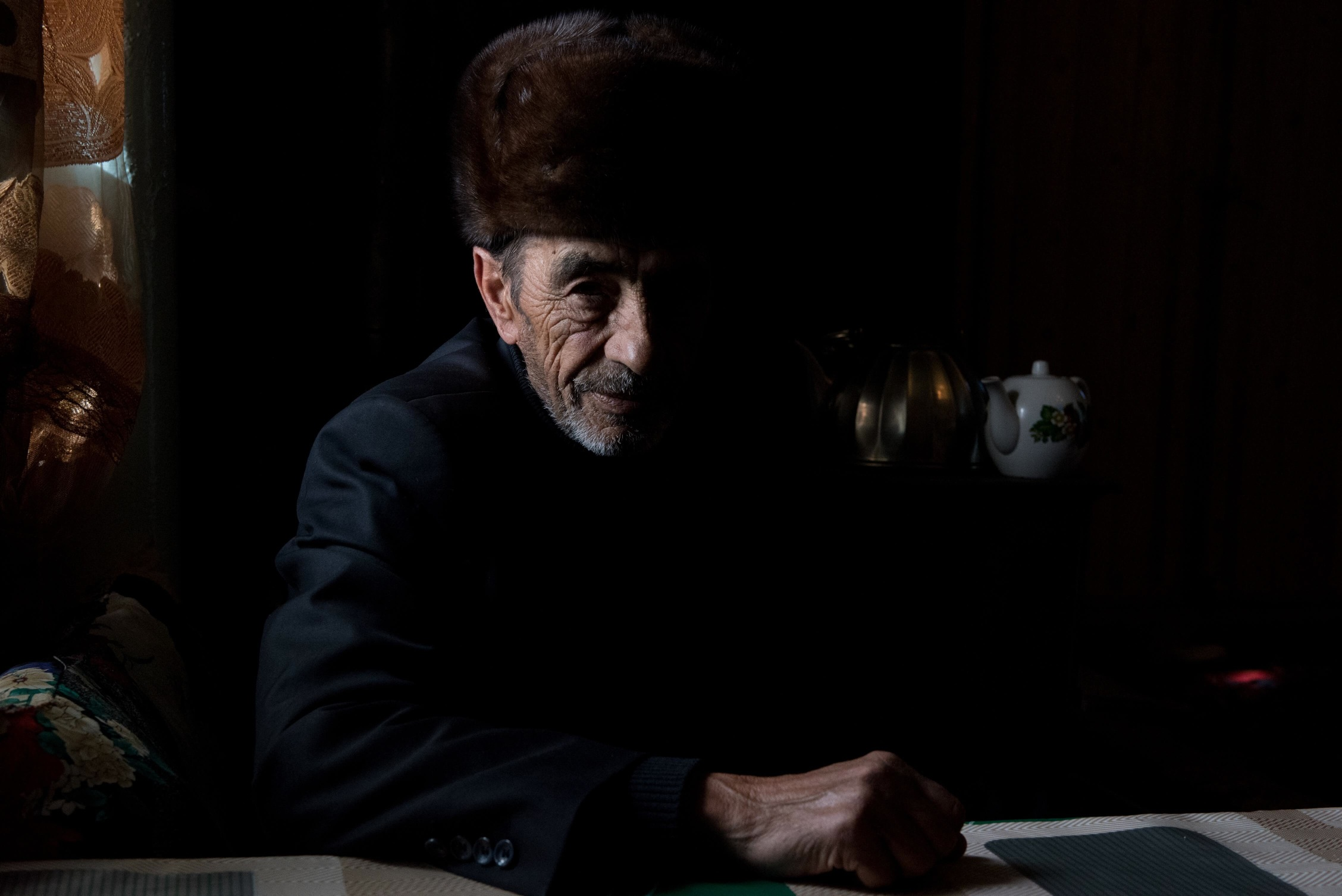 Melikov Torik, 70 ans, 1 fille, comptable, ancien directeur du kolkhoze