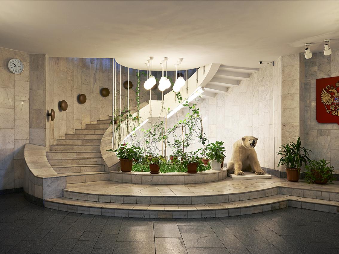 L'escalier permettant de rejoindre le salon consulaire russe.