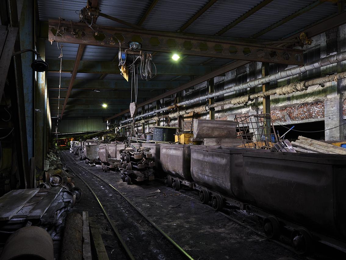 La mine, qui atteint 600 mètres de profondeur, comprend 37 km de tunnels.
