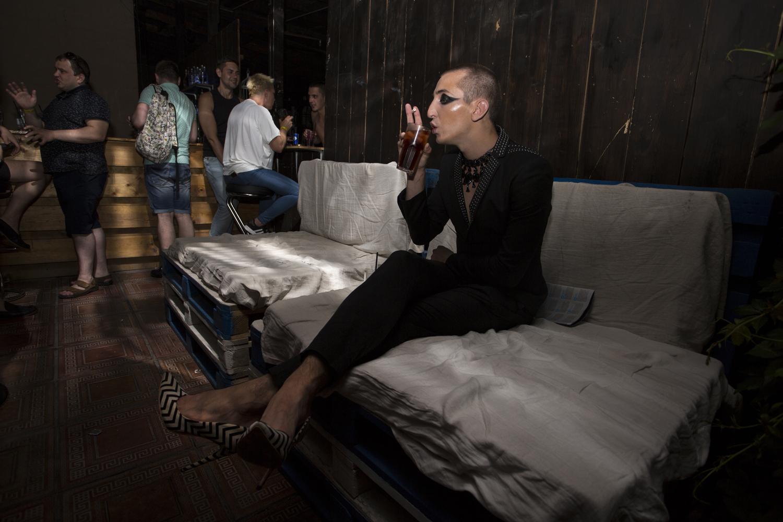 Sasha Mamontov, au club gay Central Station de Moscou © Kseniya Yablonskaya