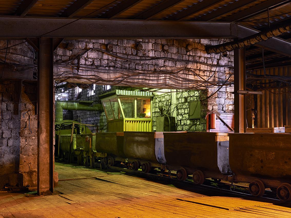 L'un des postes de contrôle de la mine.