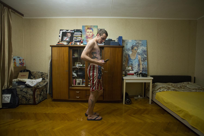 Sasha Mamontov chez lui © Kseniya Yablonskaya