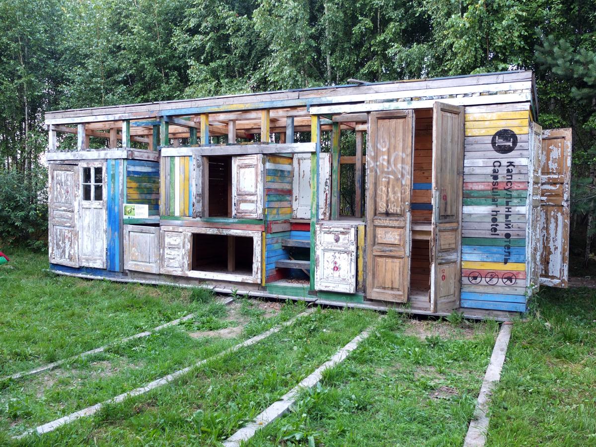 """""""Hôtel capsule"""", projet du bureau d'architecture """"ArchNakh"""", Archstoyanie 2011."""